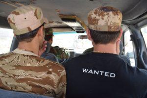 Evan et Osama, deux miliciens des NPU, le 8 octobre 2016 Crédit photo B. KANABUS