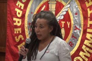 Jackie Walker, la vice-présidente du groupe du travailliste Momentum (Crédit : Capture d'écran YouTube)